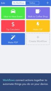 workflow aplikacija za iPhone 6